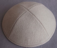 Antique White Wool Kippah