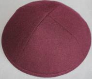 Burgundy Wool Kippah