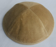 Light Brown Corduroy Kippah