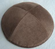 Brown Corduroy Kippah