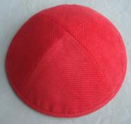 Red Corduroy Kippah