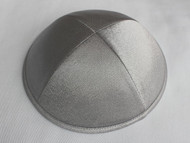 Dark Gray Satin Kippah