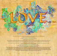 Golden Love Ketubah by Nava Shoham