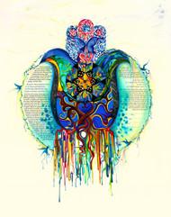 Chamsa Juniper Tree Of Love Ketubah by Nava Shoham