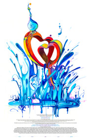 Two Hearts Beat As One Ketubah by Nava Shoham
