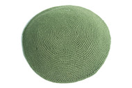 Olive Green Knit Kippah