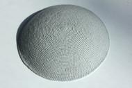 Grey Knit Kippah