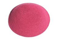 Hot Pink Knit Kippah
