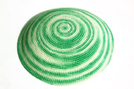 Green Swirl Knit Kippah