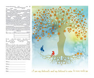 Wishing Tree II Ketubah by Ruth Rudin