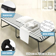 Single Size Portable Deluxe Folding Bed With Mattress For Camping Outdoor Indoor