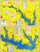 Fishing Map (With GPS) - Hook-N-Line F-109 Lake Sam Rayburn