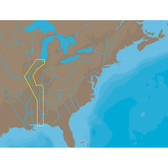 C-MAP NT+ NA-C047 - Inland Circle Route: Chicago to Mobile - Furuno FP-Card