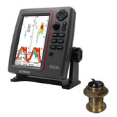 SI-TEX SVS-760 Dual Frequency Sounder 600W Kit w/Bronze 12 Degree Transducer