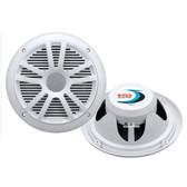 "Boss Audio MR6W 6.5"" Dual Cone Marine Coaxial Speaker (Pair) - 180W - White"