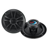 "Boss Audio MR6B 6.5"" Dual Cone Marine Coaxial Speaker (Pair) - 180W - Black"