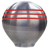 "Ongaro Throttle Knob - 1-1/2"" - Red Grooves"
