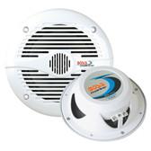 """Boss Audio MR60W 6.5"""" Round Marine Speakers - (Pair) White"""