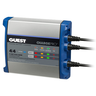 Guest On-Board Battery Charger 8A \/ 12V - 2 Bank - 120V Input