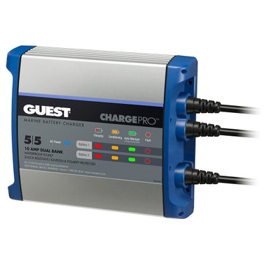 Guest On-Board Battery Charger 10A \/ 12V - 2 Bank - 120V Input