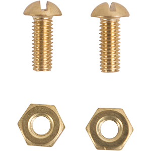 Brass #10 Pan Bolts and Nuts