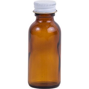 1 oz. Amber Glass Lure Bottle w/ Cap