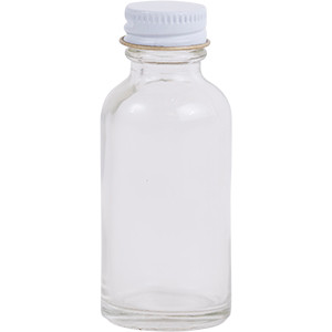 1 oz. Regular Glass Lure Bottle w/ Cap