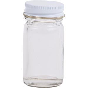 1 oz. Wide Mouth Glass Lure Bottle w/ Cap
