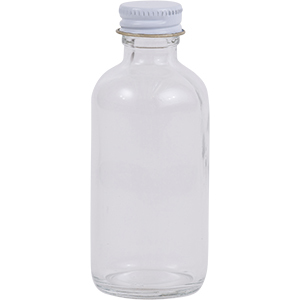 2 oz. Regular Glass Lure Bottle w/ Cap
