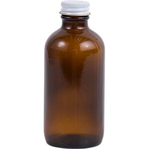 4 oz. Amber Glass Lure Bottle w/ Cap