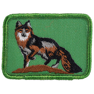 Gray Fox - Sew-On Patch