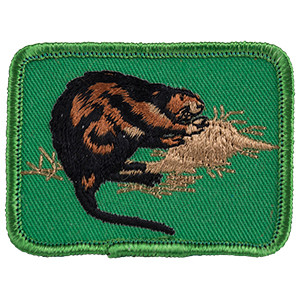 Muskrat - Sew-On Patch