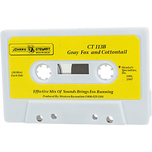 CT 113B Grey Fox and Cottontail - Johnny Stewart Cassette Tapes