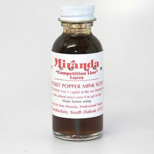 Miranda's Competition Line Lure - Pocket Popper Mink Scent