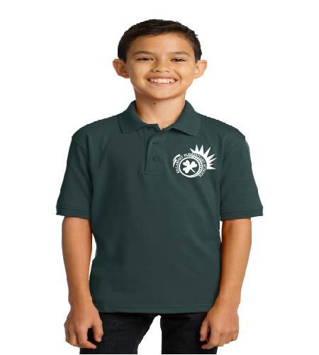 Killarney youth uniform polo w/ printed logo