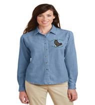 Eagle's Nest Ladies Long Sleeve Denim Button-up