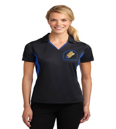 Hungerford ladies color block dri-fit polo w/ embroidery