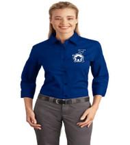 Dillard Street ladies full button 3/4 sleeve shirt w/ embroidery