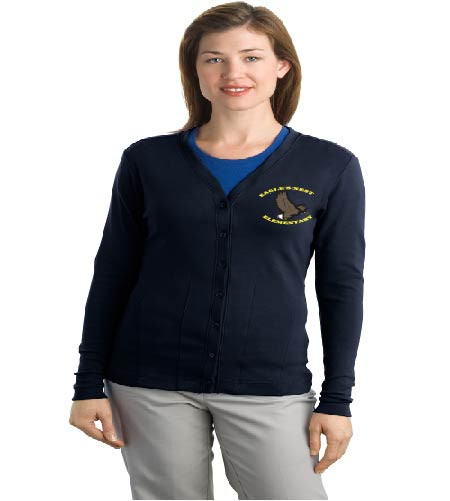 Eagle's Nest Ladies cardigan w/ embroidery