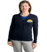 Sunridge elementary ladies cardigan w/ embroidery