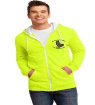 Eagle's Nest men's zip-up hooded sweatshirt w/ embroidery