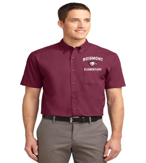 Rosemont men's short sleeve button-up