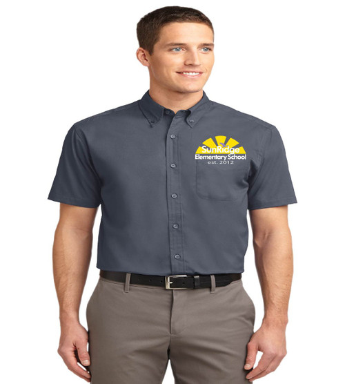 Sunridge men's short sleeve button-up