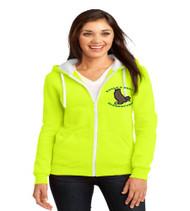 Eagle's Nest ladies zip-up hooded sweatshirt w/ printed logo