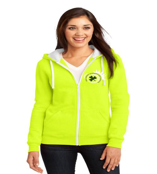 Killarney ladies zip-up hooded sweatshirt