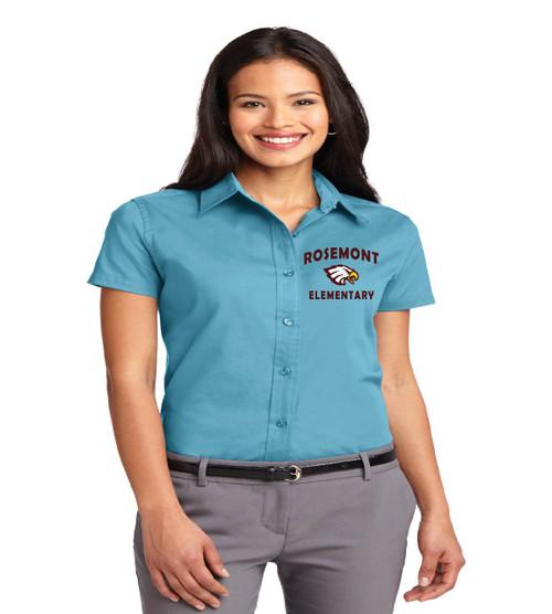 Rosemont ladies short sleeve button-up