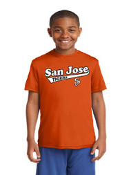 San Jose Tigers Orange Youth Dri-Fit Shirt