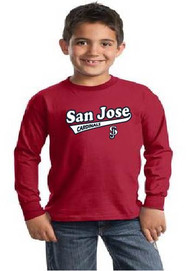 San Jose Cardinals youth longsleeve tshirt