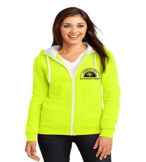 Forest City ladies zip up hoodie
