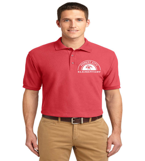 Forest City men's basic polo